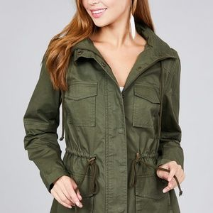 PRE ORDER NWT Olive Green Parka Military Jacket